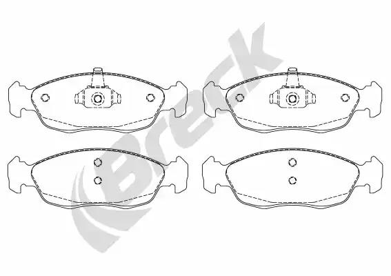 21827 00 702 00 - Brake Pad Set, disc brake