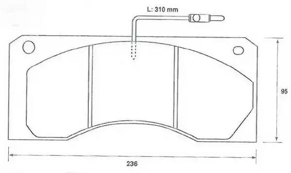 2904409561 - Brake Pad Set, disc brake