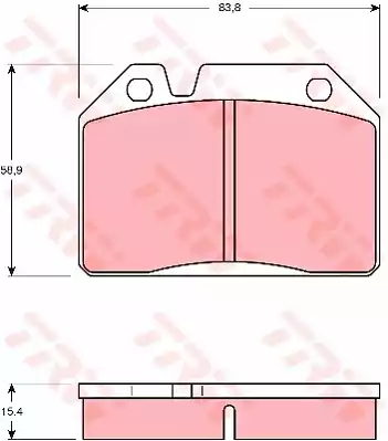 GDB119 - Bromsbeläggssats, skivbroms