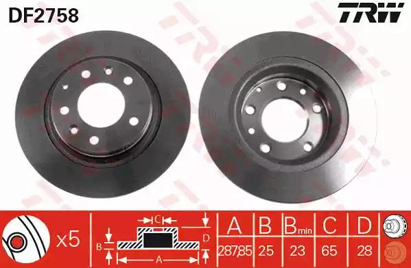 DF2758 - Brake Disc