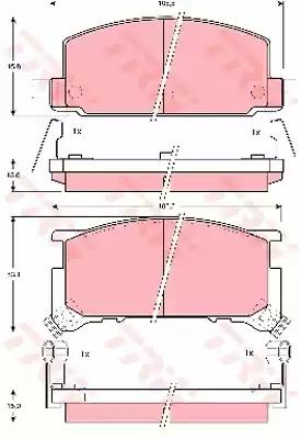 GDB898 - Bromsbeläggssats, skivbroms