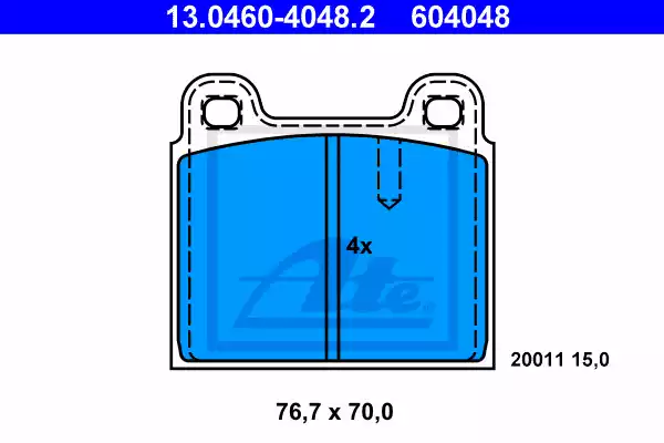 13.0460-4048.2 - Brake Pad Set, disc brake