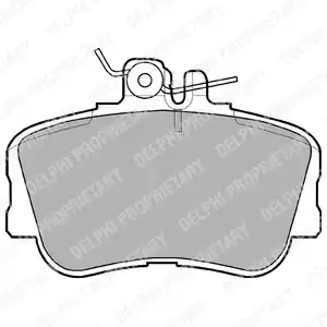 LP881 - Piduriklotsi komplekt, ketaspidur