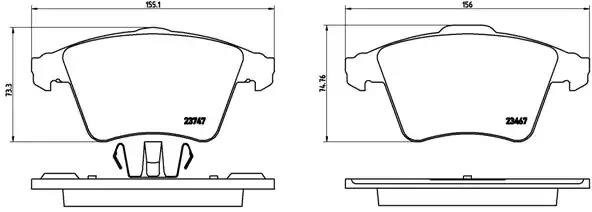 P 85 107 - Brake Pad Set, disc brake