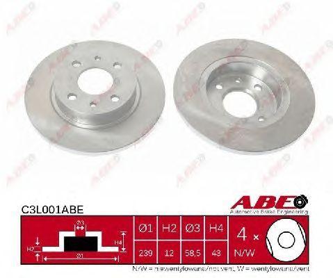 C3L001ABE - Brake Disc