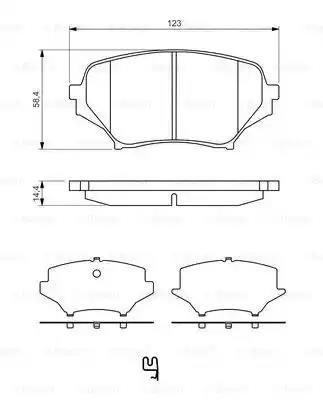 0 986 494 322 - Brake Pad Set, disc brake