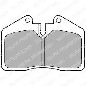 LP672 - Brake Pad Set, disc brake