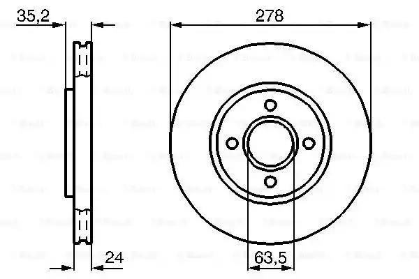0 986 478 670 - Brake Disc