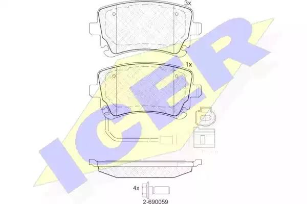 181674-203 - Brake Pad Set, disc brake