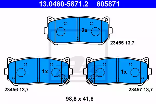 13.0460-5871.2 - Brake Pad Set, disc brake