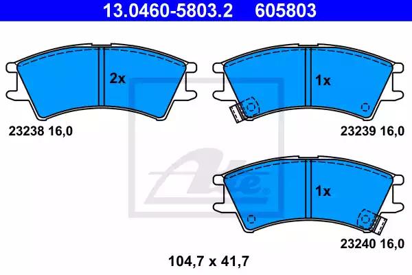 13.0460-5803.2 - Brake Pad Set, disc brake