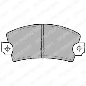 LP464 - Brake Pad Set, disc brake