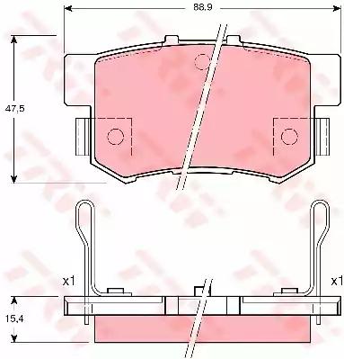 GDB3191 - Brake Pad Set, disc brake