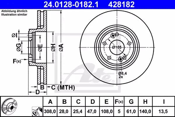 24.0128-0182.1 - Brake Disc