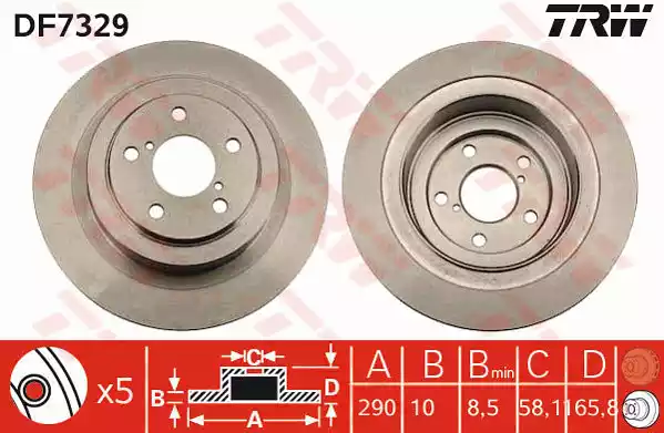DF7329 - Brake Disc