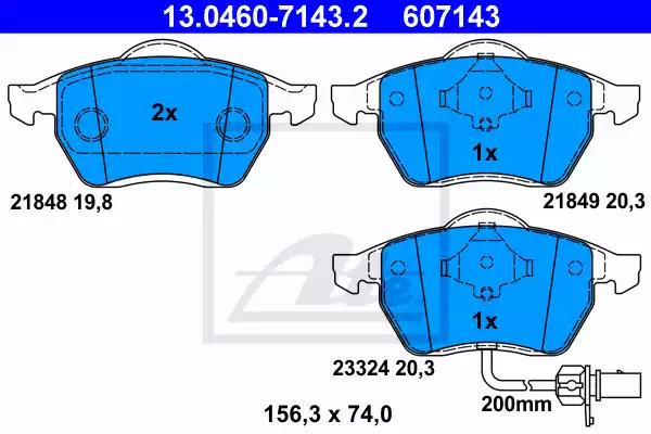 13.0460-7143.2 - Brake Pad Set, disc brake