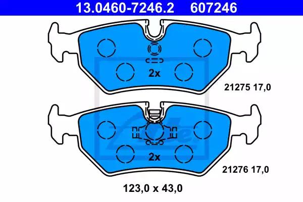 13.0460-7246.2 - Brake Pad Set, disc brake