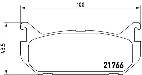 P 24 036 - Brake Pad Set, disc brake