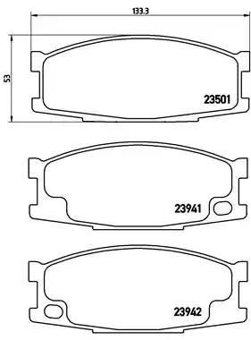 P 54 024 - Brake Pad Set, disc brake