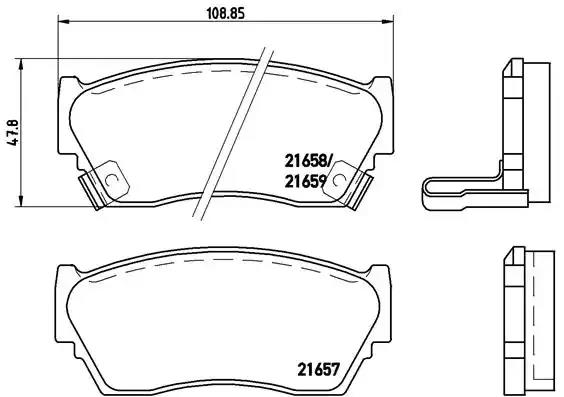P 56 027 - Brake Pad Set, disc brake