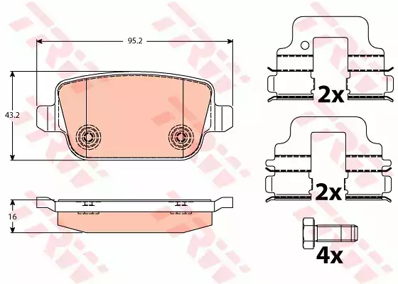 GDB1732 - Brake Pad Set, disc brake
