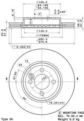 09.A761.11 - Brake Disc