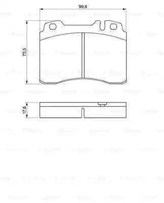 0 986 460 966 - Brake Pad Set, disc brake