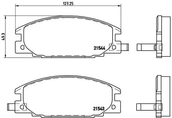P 59 015 - Brake Pad Set, disc brake