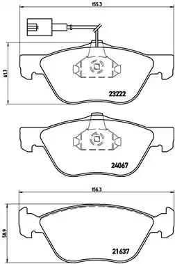 P 23 112 - Brake Pad Set, disc brake