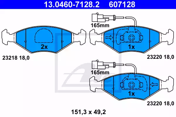 13.0460-7128.2 - Brake Pad Set, disc brake