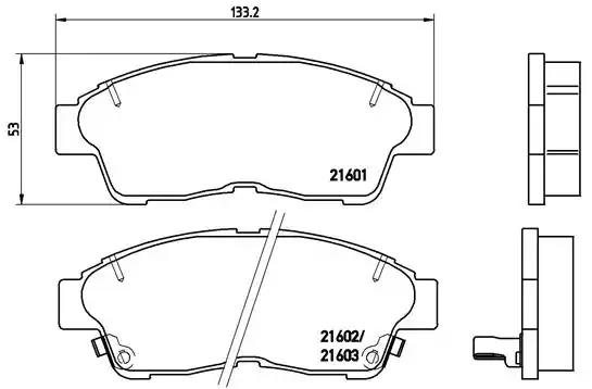 P 83 034 - Brake Pad Set, disc brake