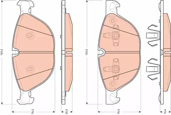 GDB1728 - Brake Pad Set, disc brake