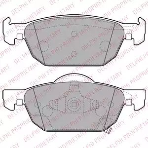LP2144 - Brake Pad Set, disc brake