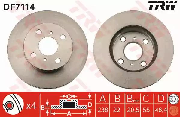 DF7114 - Brake Disc