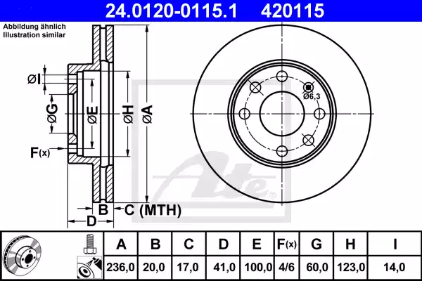24.0120-0115.1 - Brake Disc