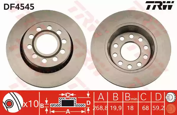 DF4545 - Brake Disc