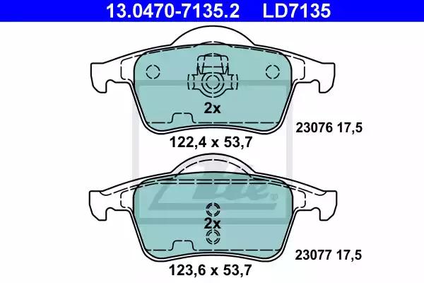 13.0470-7135.2 - Brake Pad Set, disc brake