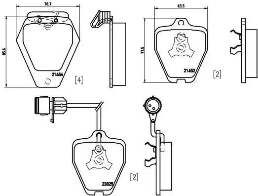 P 85 038 - Brake Pad Set, disc brake