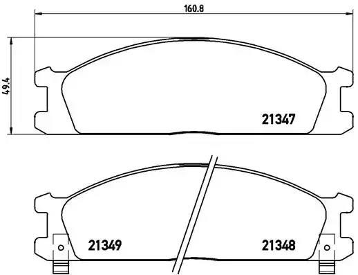 P 24 026 - Brake Pad Set, disc brake