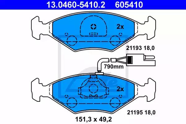 13.0460-5410.2 - Brake Pad Set, disc brake