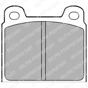 LP61 - Brake Pad Set, disc brake