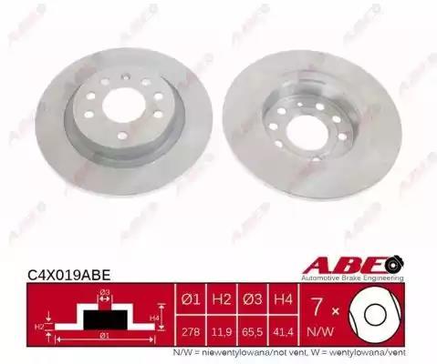 C4X019ABE - Brake Disc