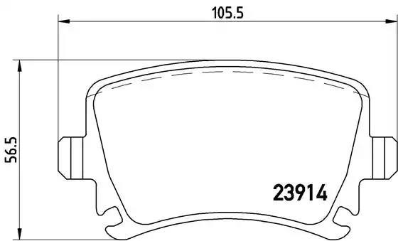 P 85 095 - Brake Pad Set, disc brake