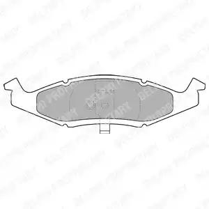 LP1225 - Brake Pad Set, disc brake