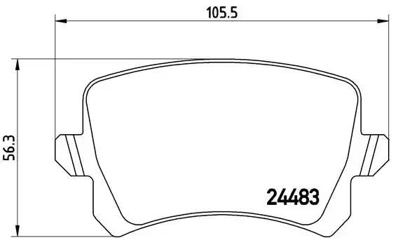 P 85 108 - Brake Pad Set, disc brake