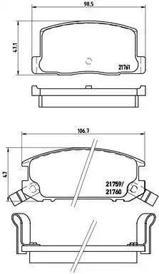 P 83 019 - Piduriklotsi komplekt, ketaspidur