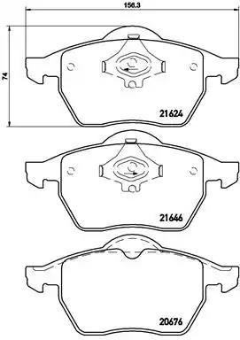 P 85 036 - Piduriklotsi komplekt, ketaspidur