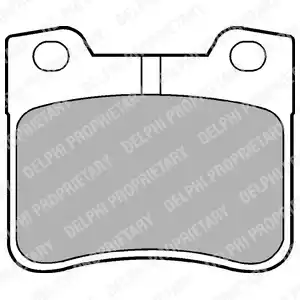 LP1051 - Brake Pad Set, disc brake
