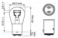 Bulb, brake/tail light