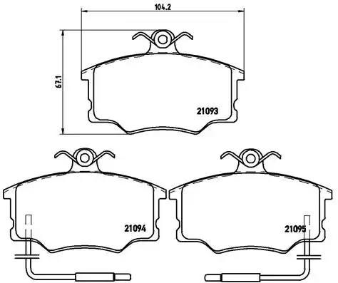 P 23 034 - Brake Pad Set, disc brake